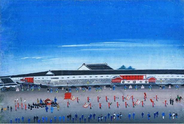 【写真】江戸山下御門内朝鮮人登城行列 19世紀 国立歴史民俗博物館蔵