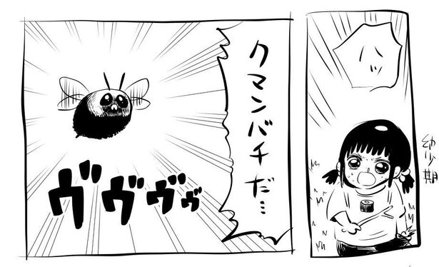 「高校までクマバチを恐れて生きてた」1