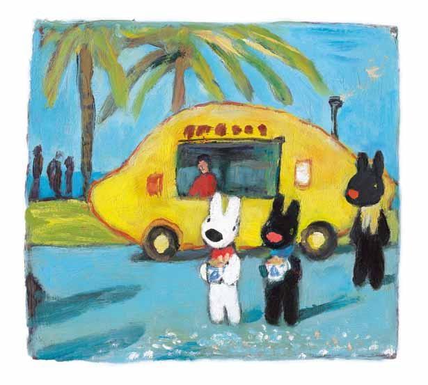 南仏マントンのレモン祭りを題材にした絵本「Les Vacances de Gaspard et Lisa」のワンシーン
