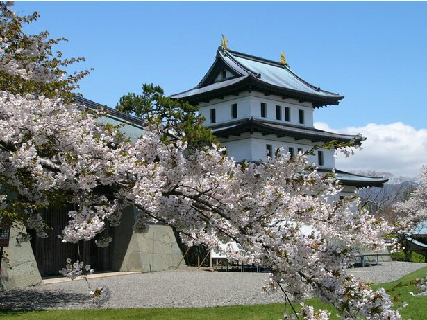 松前城と桜の眺めは素晴らしい