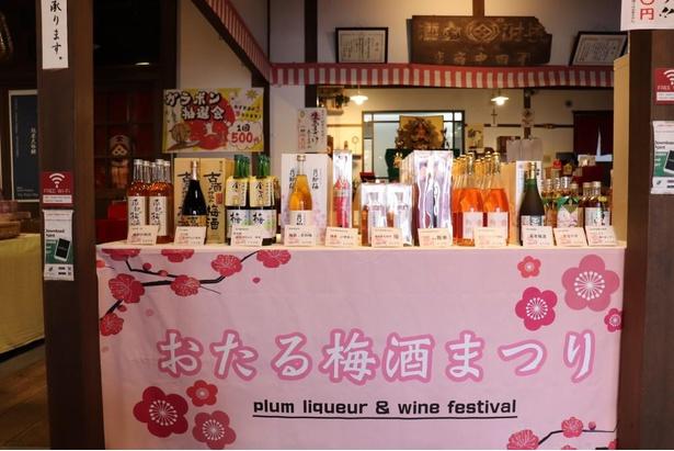田中酒造の梅酒はもちろん、ほかの酒造の商品も販売されている