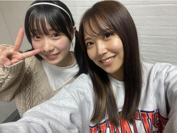 『みるみる道場』今回は、NMB48三宅ゆりあ(左)×白間美瑠(右)