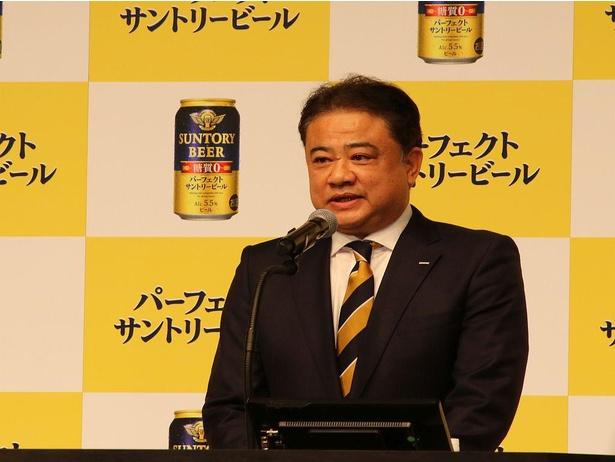 「おいしさと糖質ゼロを究極なまでに追求した」と代表取締役社長の西田英一郎氏