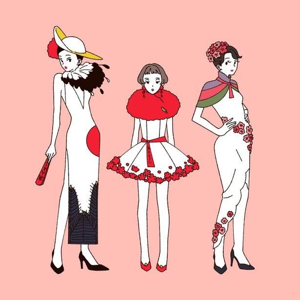 「花札をモチーフにしたファッション」(1/4)