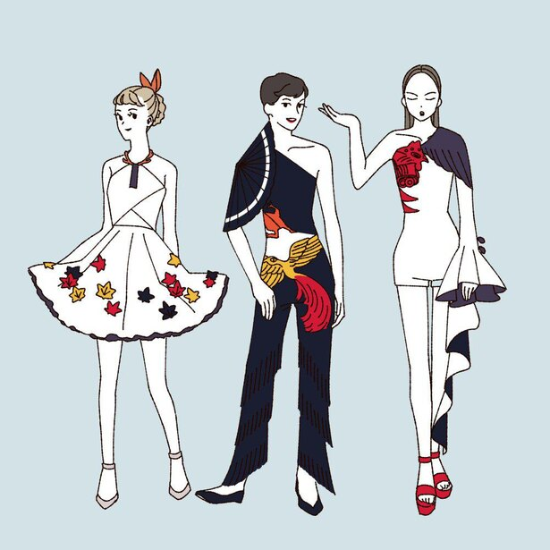 「花札をモチーフにしたファッション」(4/4)
