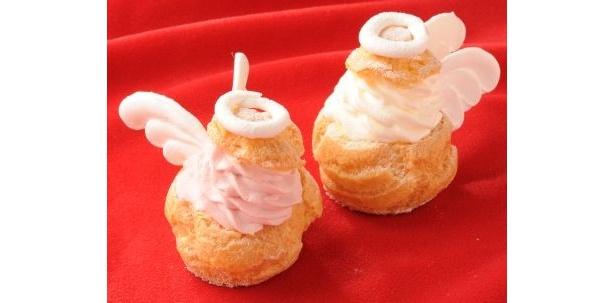 エモカフェの「ANGEL PINK」と「ANGEL WHITE」(各¥250/1日各20個限定)