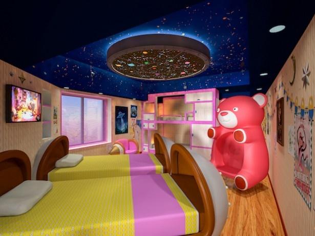 「Minions Room2」はピンクとホワイトの色使いがポップでキュート