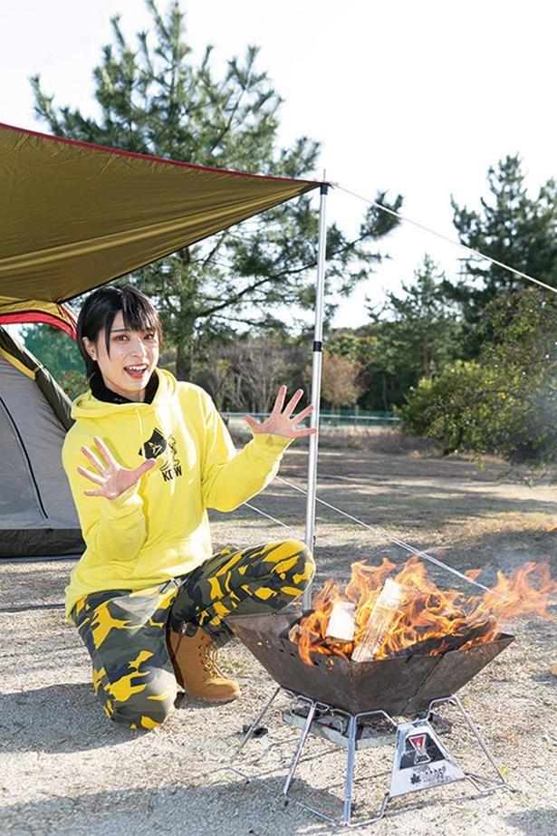 見事にたき火が完成!たき火を覚えればキャンプがもっと楽しくなるはず