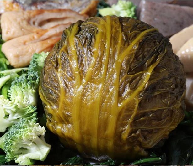 リクエストを受けて作った「めはり寿司風おにぎり」。高菜の塩気がしっかりきいていて、何個でも食べられるほどのおいしさだったとか