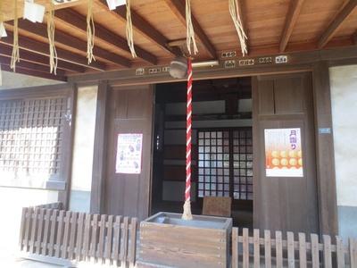 「出世稲荷神社」の社殿は深川神明宮から移築したと伝わる