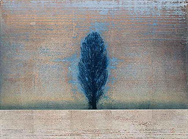 【写真】星襄一《 一本の木 》1971年 木版画