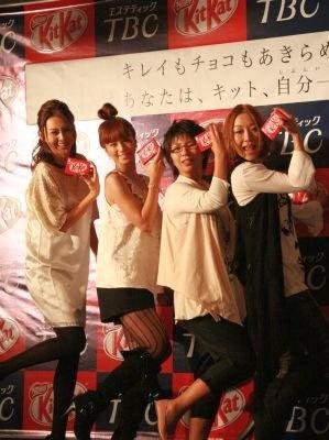 """""""自分一美人応援団""""タレントの安田美沙子さん、モデルの桜井裕美さん、お笑いコンビのクワバタオハラ"""