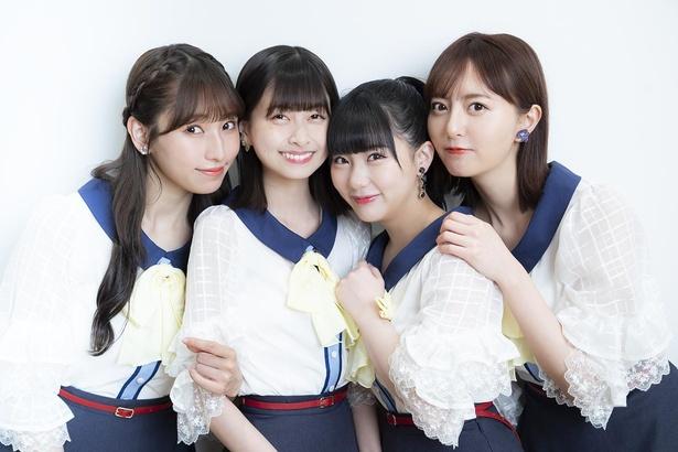つばめ選抜の4名がインタビューに答えてくれた。左から、栗原紗英、松岡はな、田中美久、森保まどか