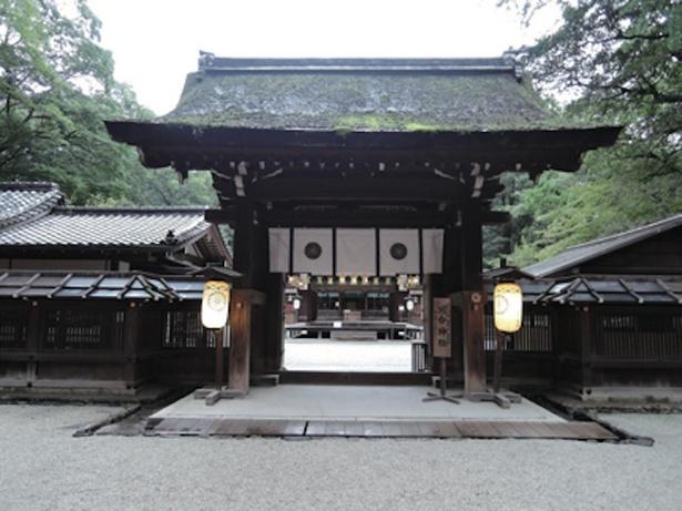 ユネスコ世界遺産に登録された下鴨神社の摂社、河合神社