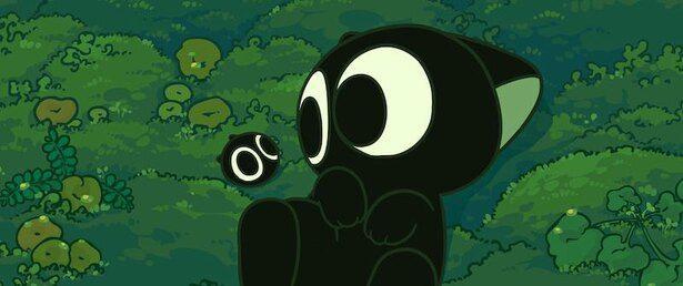 霊から生まれた黒ネコの妖精のシャオヘイ