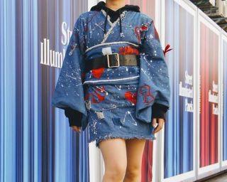 「着物は、もっと自由でいい」ショートパンツやパーカーを合わせた新しい「着物コーデ」がSNSで大人気!