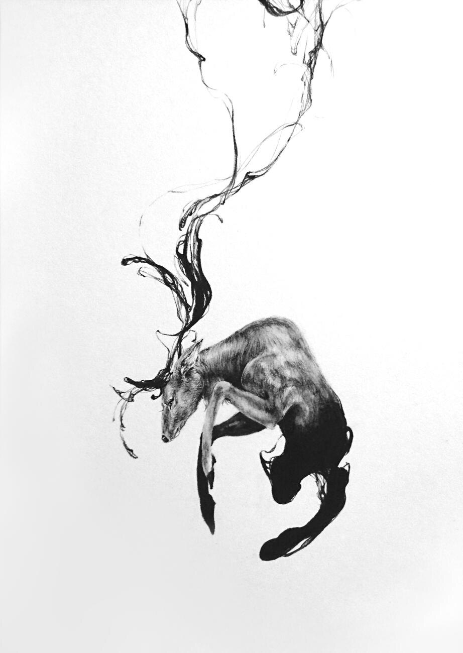 「Everything Stays」。飛び跳ねる鹿からは、生命の力強さを感じさせる