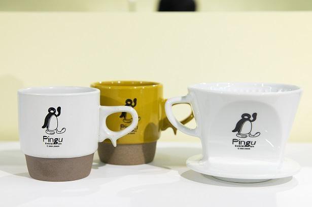 「HASAMIカップ(ホワイト/イエロー)」(写真左・各2860円)、「ドリッパー」(3080円)