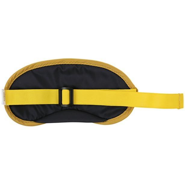 アイマスクは頭囲に合わせてベルトで調整できる