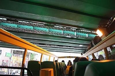 鉄道の高架下をくぐる時は、スリル満点! ほか、高速道路も頭上にうねっているのが見えて面白い