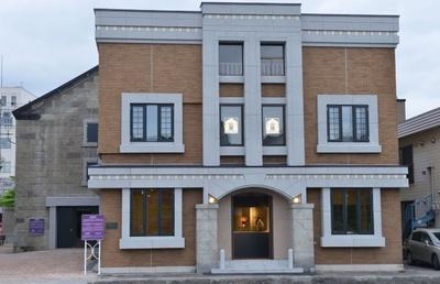 ニトリ小樽芸術村 旧高橋倉庫 ステンドグラス美術館。外観