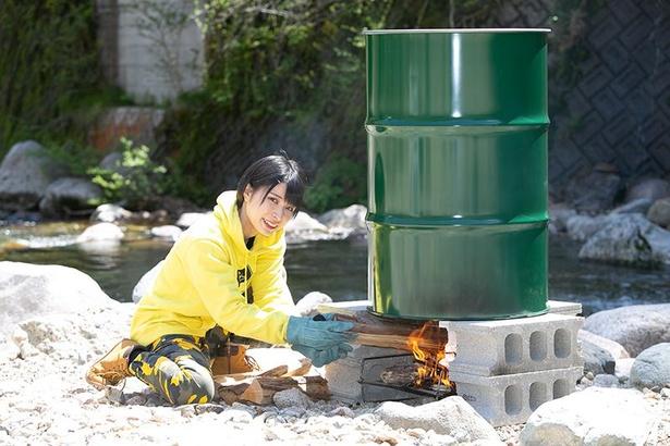 【写真】たき火でロマンあふれるドラム缶風呂も!こだわりのマイたき火台をチェック!