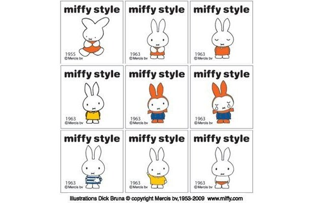 1955年当時のミッフィーは耳の形が今とは違う!? 【そのほかオリジナル商品画像】
