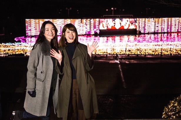 【写真を見る】LED約85万球を使った「大海原のマッピング劇場」