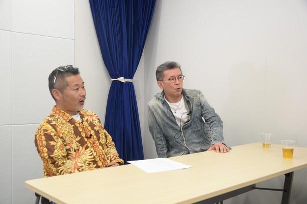 藤村忠寿氏(左)と嬉野雅道氏(右)