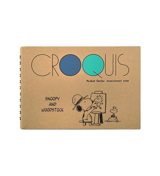 ウッドストックの絵を描くスヌーピーをデザイン