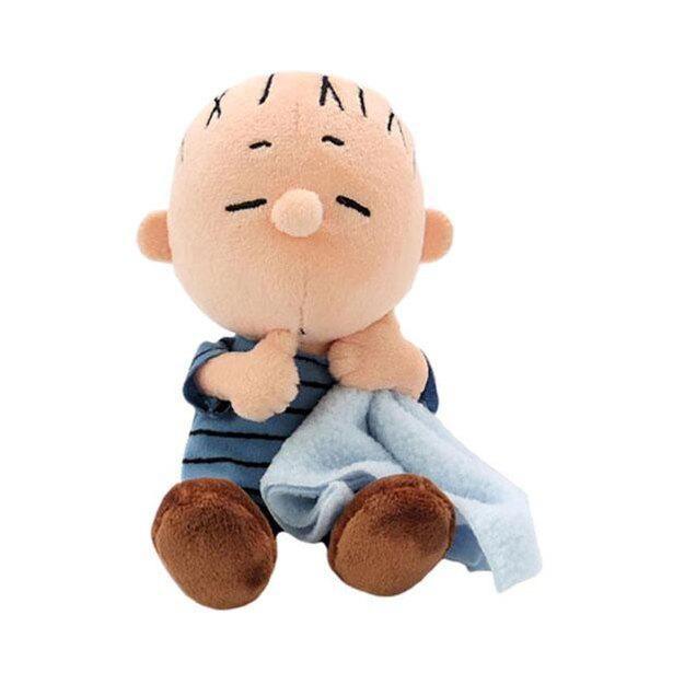 おねむな表情のライナスに胸キュン!「PEANUTS ソフトビーンドール ライナス おやすみ」