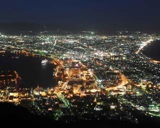 函館山山頂展望台からの夜景。山頂展望台にはほかにもこんな見どころが……