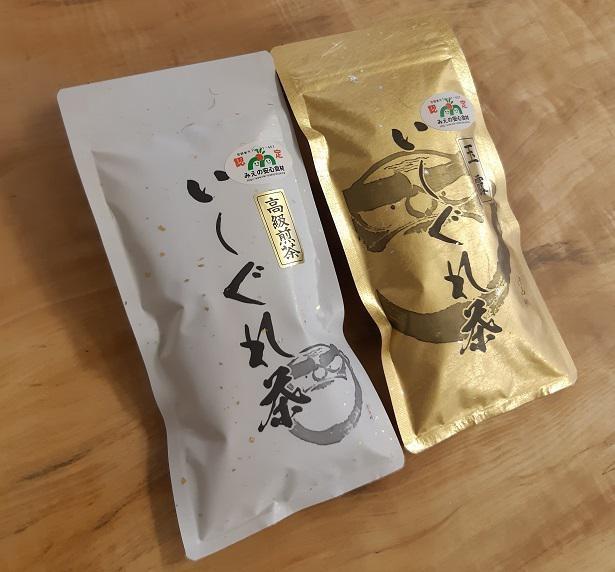 上品な香りに甘みとまろやかさを合わせ持ったいしぐれ茶。玉露100gと高級煎茶100gのセットが5594円(送料込み)でお取り寄せ可能だ