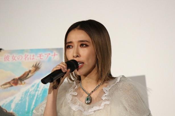 『モアナと伝説の海』の大ヒットイベントに登場した加藤ミリヤ