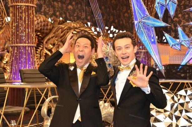 3月18日に放送される「土曜プレミアム『芸能人が本気で考えたドッキリさせちゃうぞGP』」で司会を務める東野幸治とウエンツ瑛士