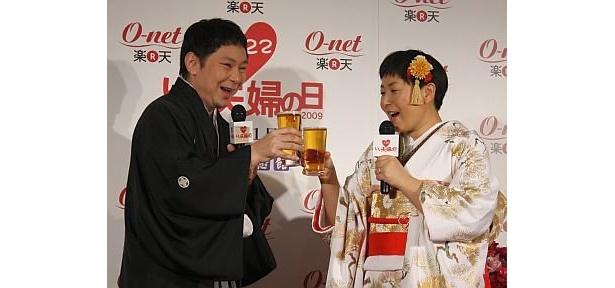 ビールでのカンパイ!で大島さんは…?