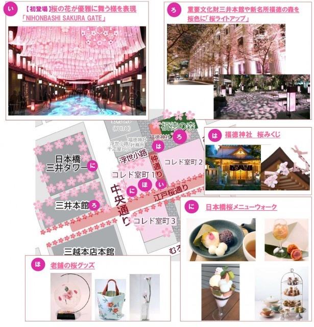 桜の名所とともに、デジタル技術によるアートな花見体験や、美食の食べ歩きイベント、宝探し施策などが満載だ