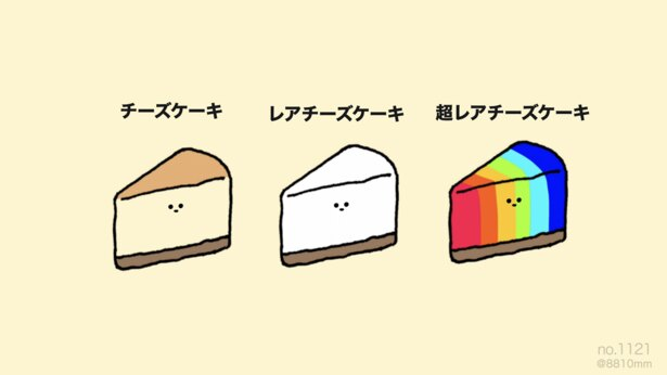 「超レアチーズケーキ」。レア度を上げるととんでもないことに!