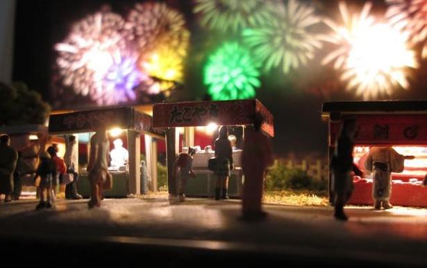 夜店の照明には電球色の極小チップLEDを使用