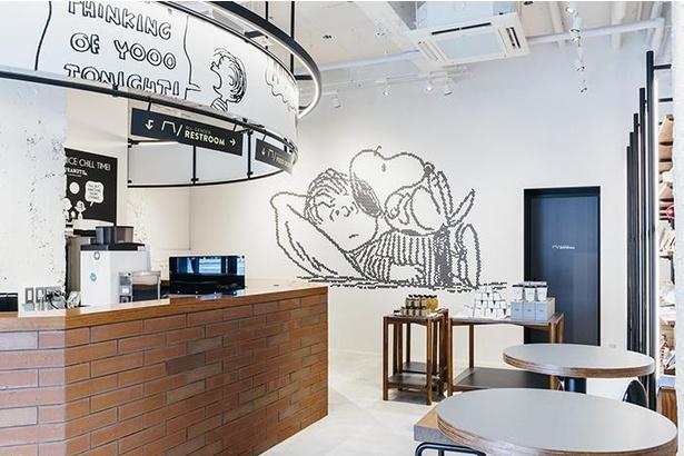 PEANUTS Cafe 神戸。かき氷メニューは「ウッドストックのかき氷」のテイクアウト販売のみ