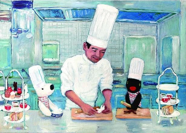 厨房に忍び込んだリサとガスパールは、杉本料理長(そっくり!!)からアフタヌーンティー作りを学ぶ