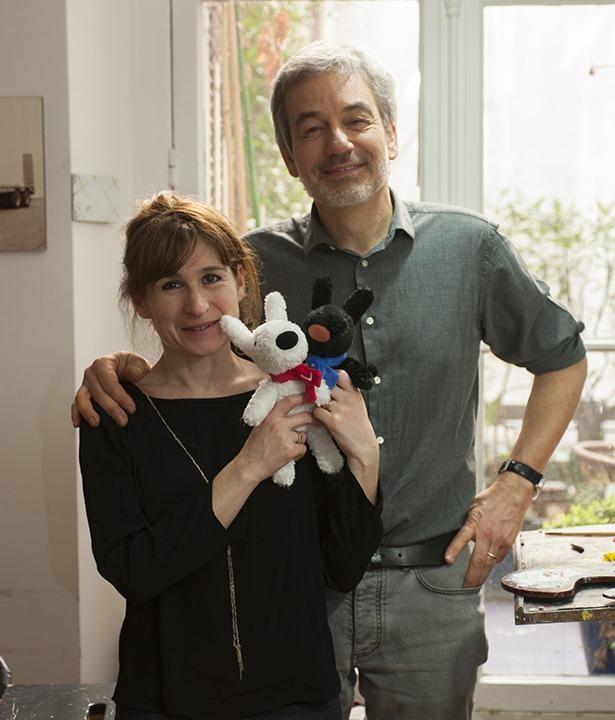 文を担当するアン・グットマン氏と、作画を担当するゲオルグ・ハレンスレーベン氏。夫妻は現在パリ在住