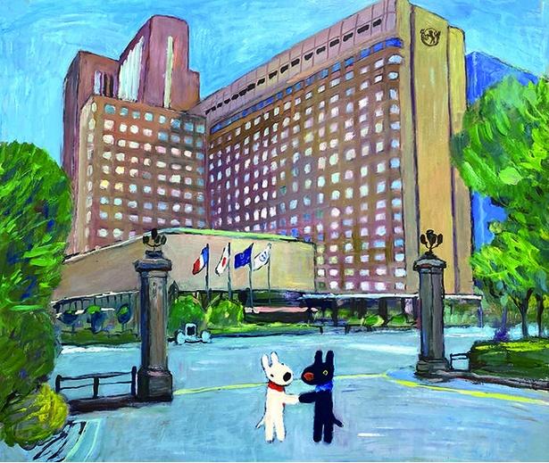 帝国ホテル 東京へ向かうリサとガスパール