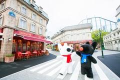 パリの雰囲気が楽しめるタウンで、リサとガスパールがお出迎え。絵本の世界を満喫しよう!