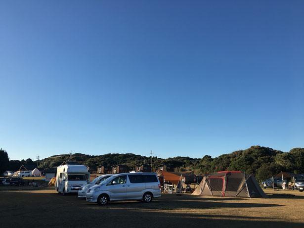 設営&準備がスムーズにできる区画サイトでキャンプデビュー!