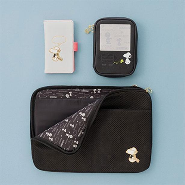 左上から時計回りに「フォンケース」(3300円)、「ポーチ」(2200円)、「ショルダー付バッグ」(3850円)