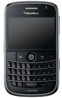 発売中の「docomo PRO series BlackBerryBold」ブラック