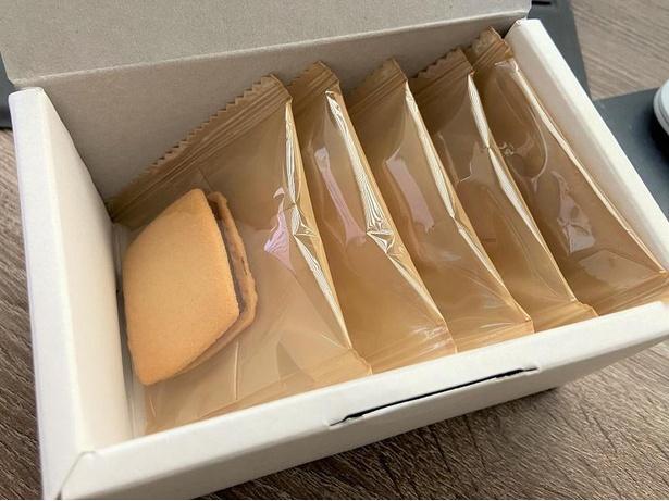 ショコラサンド。個別包装されているので持ち運びやすい