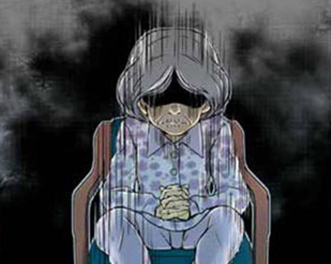 """【漫画】「またあの個室…」変更希望が絶えないあの病室に""""いる""""、紫の花柄のパジャマの人/ナースゆつきの怪奇な日常"""