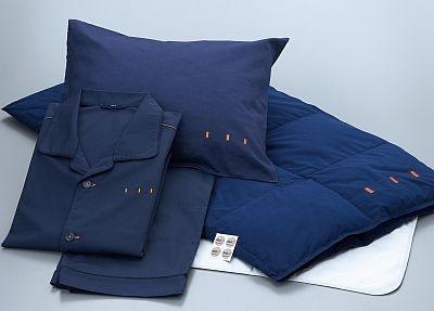 ファイテン社独自のアクアチタン加工技術をほどこした寝具も快適!